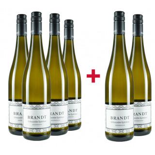 4+2 Paket Scheurebe Spätlese süß - Weingut Brandt