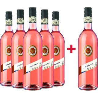 5+1 Rosé-Paket halbtrocken BIO + Verkostungsvideo - Weingärtner Stromberg-Zabergäu