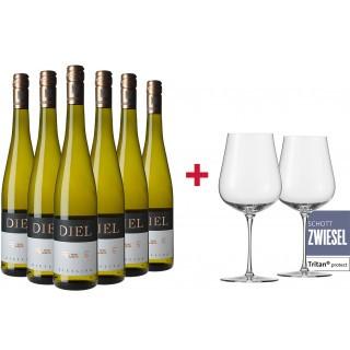 Riesling Fass 5 Paket + Gratis 2er Set Schott Zwiesel AIR Gläser