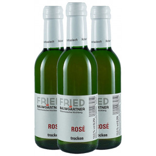 3x 2018 Rosé trocken 0,25L - Weingut Fried Baumgärtner