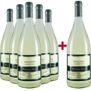 5+1 Paket Bacchus halbtrocken  - Weingut Deck
