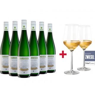Riesling Kabinett Paket + Gratis 2er Set Schott Zwiesel PURE Gläser