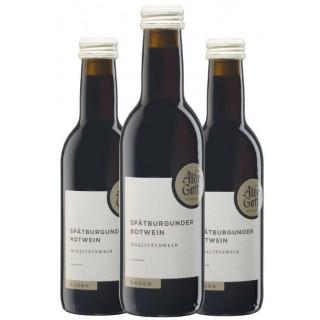 3x 2017 Spätburgunder Qualitätswein halbtrocken 0,25 L - Alde Gott Winzer Schwarzwald