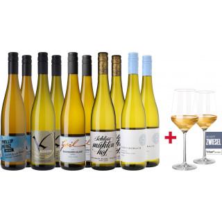 Großes Sauvignon Blanc Entdeckerpacket + Schott Zwiesel Pure Gläser