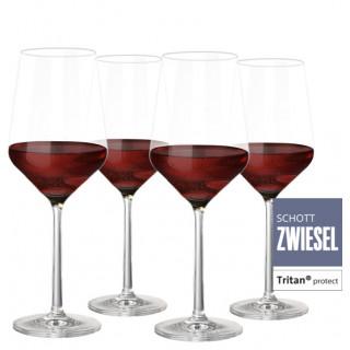 4er Set Zwiesel Kristallglas Pure Rotweinglas