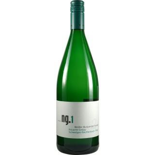 2018 ng.1 Weisser Burgunder QbA trocken 1L - Weingut Nauerth-Gnägy
