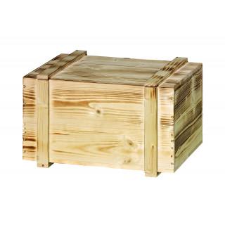 6er Holzkiste mit Schiebedeckel