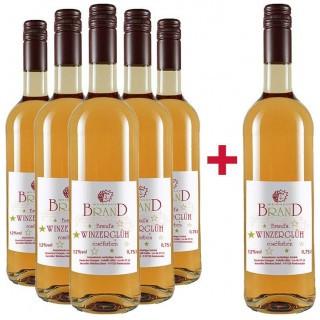 5+1 Paket Brand's Winzerglüh´ roséfarben - Weingut Brand