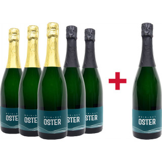 5+1 Paket Winzersekt - Weingut Oster