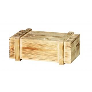 2er Holzkiste mit Schiebedeckel
