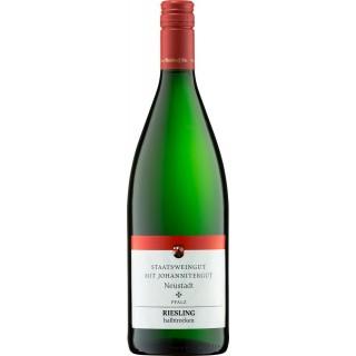 2020 Pfalz Riesling halbtrocken 1,0 L - Staatsweingut mit Johannitergut