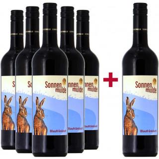 5+1 halbtrockener bio Blaufränkisch Probierpaket - Weingut Sonnenmulde