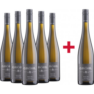 """5+1 Oppenheimer Riesling """"Kalkstein"""" Paket - Weingut Eckehart Gröhl"""