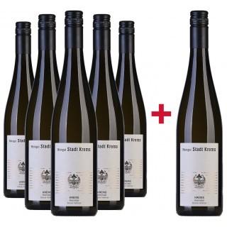 5+1 Paket Grüner Veltliner Krems Kremstal DAC trocken - Weingut Stadt Krems