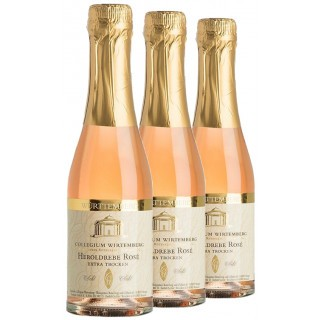 3x 2017 Heroldrebe Sekt Rosé extra trocken 200mL - Collegium Wirtemberg