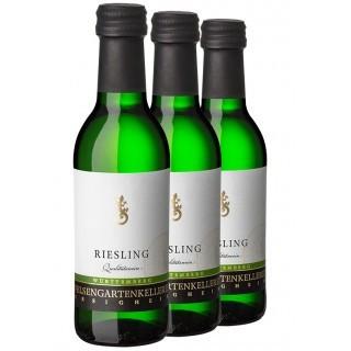 3x Riesling QbA halbtrocken 0,25L (3 Flaschen) - Felsengartenkellerei Besigheim