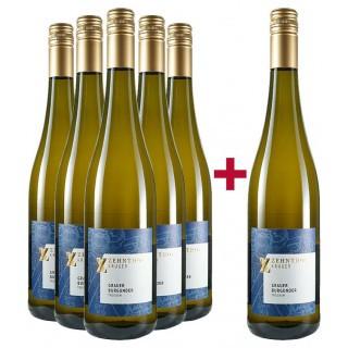 5+1 Paket Grauer Burgunder trocken - Weingut Zehnthof Kruger