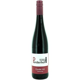 Cuvée rot feinfruchtig lieblich - Weingut Porderhof
