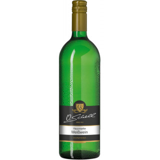 Weißwein Hausmarke feinherb 1,0 L - Weingut O.Schell