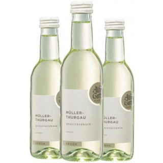 3x 2020 Müller-Thurgau Qualitätswein halbtrocken 0,25 L - Alde Gott Winzer Schwarzwald