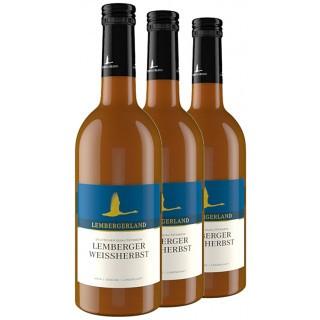 3x 2019 Lemberger Weißherbst feinherb 0,5 L - Lembergerland Kellerei Rosswag