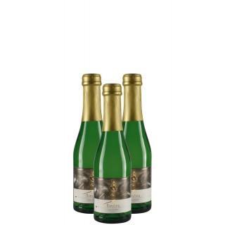 3x 2015 Riesling Sekt extra trocken Piccolo 0,2L Bio - Weingut Winfried Seeber
