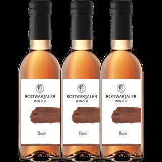 3x 2019 Rosé halbtrocken 0,25 L - Bottwartaler Winzer