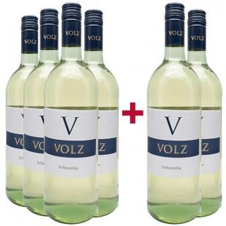 4+2 Paket Scheurebe lieblich 1,0 L - Weingut Volz & Sohn
