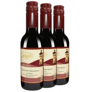 3x 2014 Cabernet Sauvignon Holzfass Trocken 0,25L Singleflaschen - Weingut Heinz-Willi Dechent