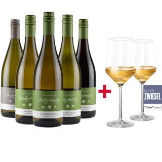 """Probierpaket """"Gemeinsam trocken trinken"""" + 2er Set Schott Zwiesel Gläser - Weingut Schloßgartenhof"""