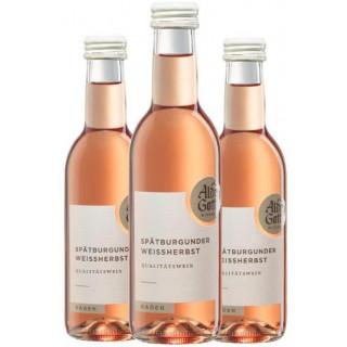 3x 2019 Spätburgunder Weißherbst Qualitätswein halbtrocken 0,25 L - Alde Gott Winzer Schwarzwald