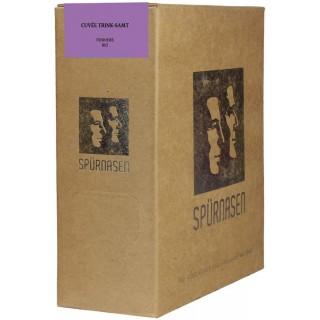 2015 Trink-Samt Cuvée halbtrocken 2,25 L Bag-in-Box Weinschlauch BIO - SPÜRNASEN Wein