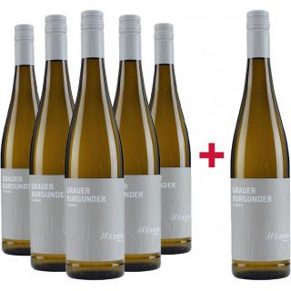 5+1 Paket 2020 Grauer Burgunder SE trocken - Weingut Weber Ettenheim