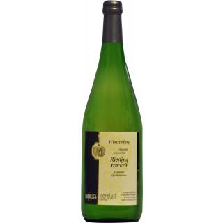 2018 Abstatter Schozachtal Riesling trocken 1L - Weinkellerei Wangler
