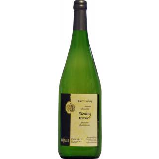 2019 Abstatter Schozachtal Riesling trocken 1L - Weinkellerei Wangler