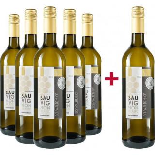 5+1 Paket Sauvignon Blanc halbtrocken - Weingut Schwalbenhof