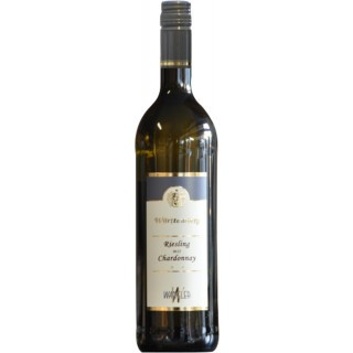 2019 Württemberg Riesling mit Chardonnay halbtrocken - Weinkellerei Wangler