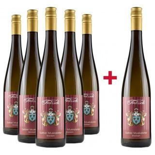 5+1 Paket Gelber Muskateller trocken - Weingut Fritzsch & Sohn