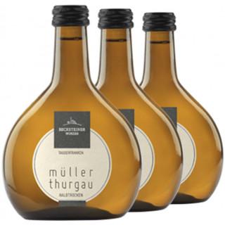 3x 2019 Müller-Thurgau halbtrocken 0,25 L - Becksteiner Winzer eG