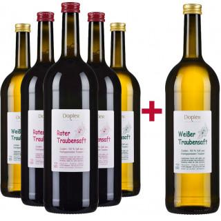 5+1 Traubensaftpaket  - Weingut Dopler
