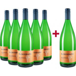 5+1 Paket DER LITERWEIN Scheurebe trocken - Weingut Dackermann