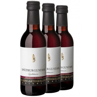 3x Spätburgunder QbA trocken 0,25L (3 Flaschen) - Felsengartenkellerei Besigheim