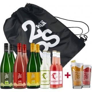 Sommer-Schorle-Paket + Gläser & gratis Kühltasche
