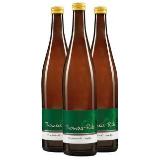 3x 2018 Traubensaft weiß - Weingut Thomas-Rüb