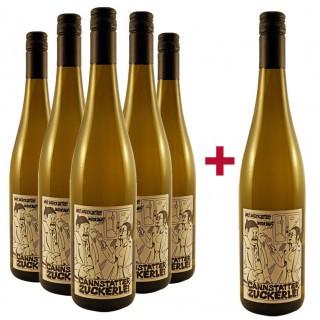 5+1 Paket Cannstatter Zuckerle Riesling  - Weingut der Stadt Stuttgart