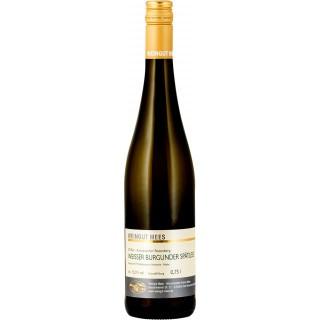 2018 Weißer Burgunder Spätlese Weißwein feinherb Nahe Kreuznacher Rosenberg - Weingut Mees