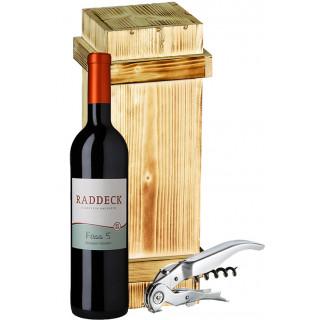 Raddeck Cuvée Fass 5 mit hochwertiger Holzkiste & Pulltex Sommeliermesser
