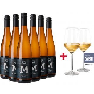 Riesling Alte Reben trocken Paket + 2er Set Schott Zwiesel Pure Weißweingläser