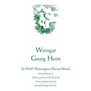 2013 Neumagener Rosengärtchen Riesling Beerenauslese edelsüß - Weingut Georg Heim