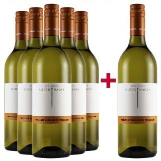 5+1 Paket Weißburgunder von der Ilbesheimer Ritterburg  - Weingut Silbernagel